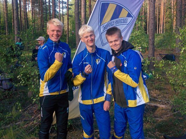 Alvar,Juha ja Miika kolmoisvoittoon!